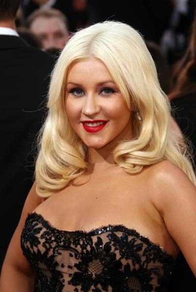 Xtina at the Golden Globes