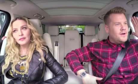 Madonna and James Corden: Carpool Karaoke Time!!!