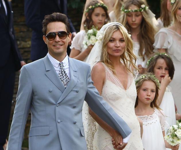 Jamie Hince and Kate Moss Wedding Photo