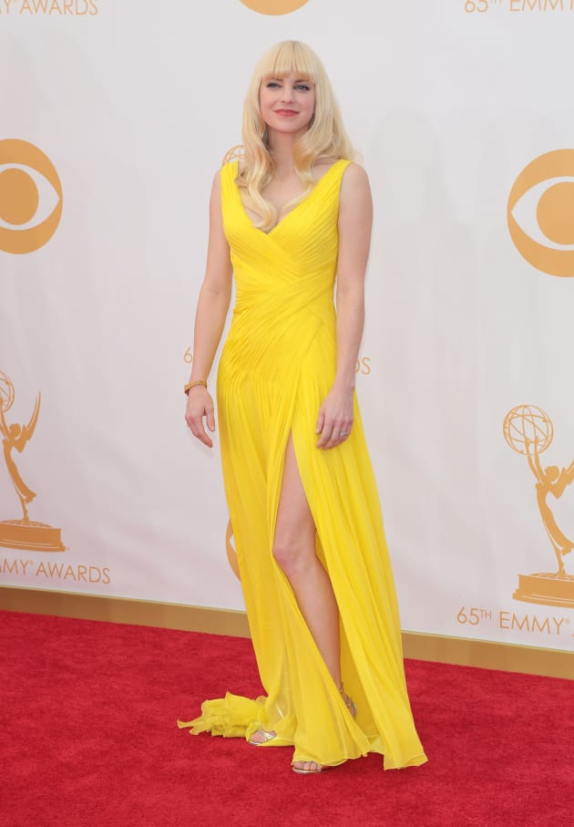 Anna Faris at the Emmys
