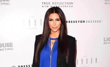 Kim Kardashian on a Red Carpet