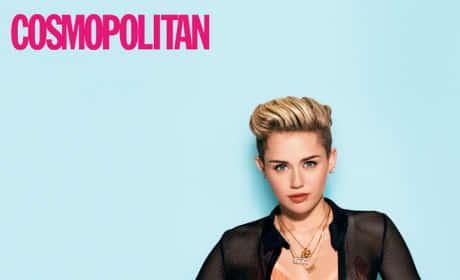 Miley Cyrus Cosmo Pose
