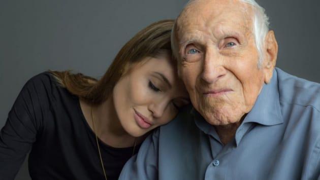 Louis Zamperini and Angelina Jolie