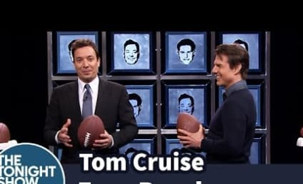 Tom Cruise and Jimmy Fallon Throw Footballs, Try to Break Each Other's Face