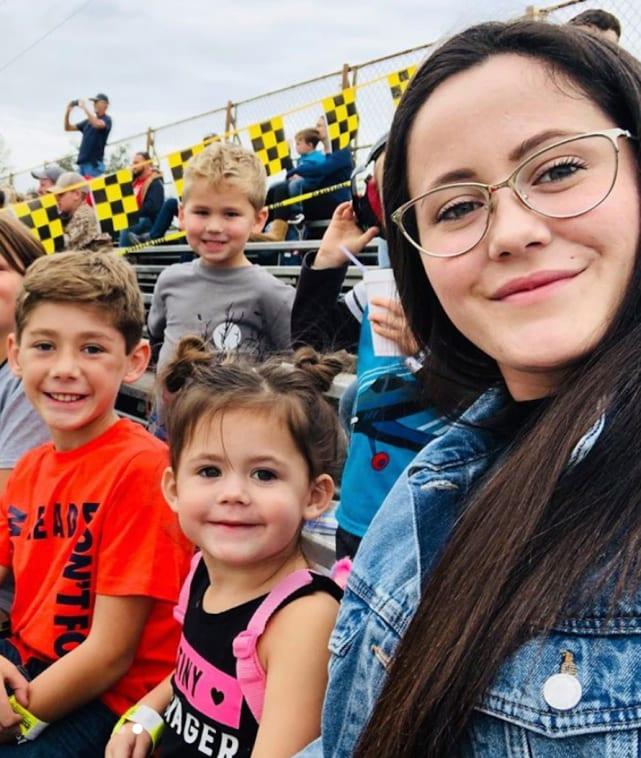 Jenelle evans happy with kids