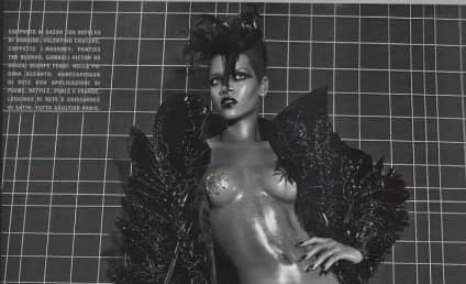 Rihanna: Topless, Terrifying in Vogue Italy