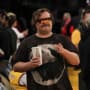 Jack Black at the Lakers vs Pelicans Basketball Game