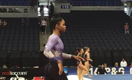 Gabby Douglas in Tight Pants