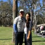 Chip Gaines and Joanna Gaines on a Golf Course