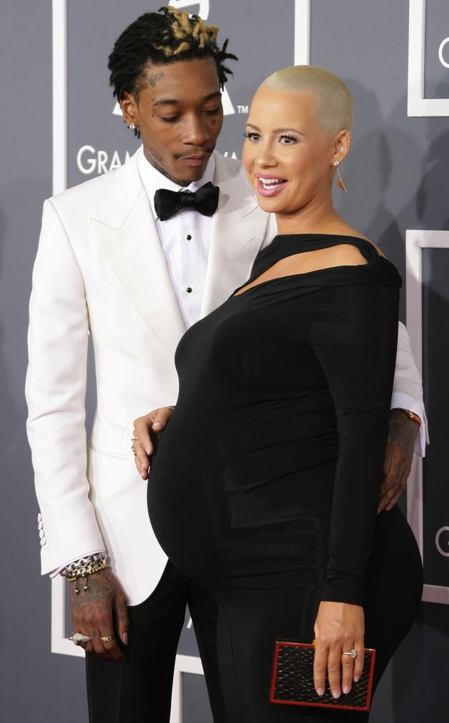 Wiz Khalifa and Pregnant Amber Rose