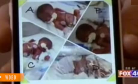 Mom Expecting Triplets Gives Birth to Identical Quadruplets