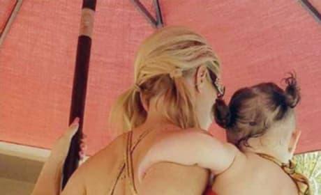 Coco Austin and Chanel Nicole Marrow in Orange