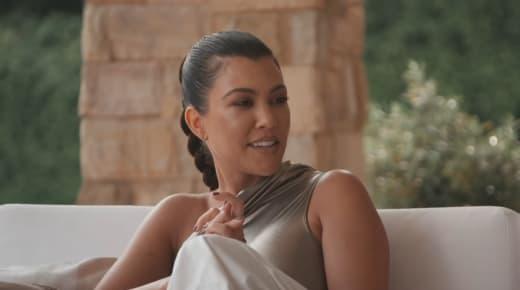 Kourtney Kardashian Looks Bemused