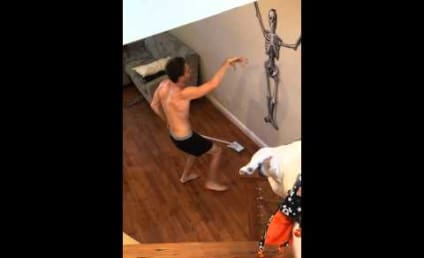 Jimmy Pope Dances Shirtless While Cleaning Apartment, Becomes Viral Sensation