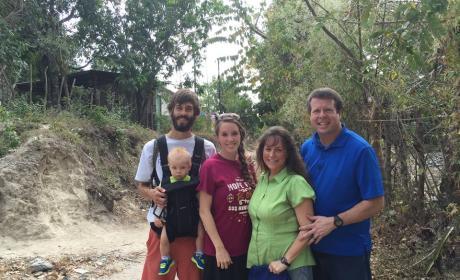 Jim Bob and Michelle Duggar with Jill, Derick and Israel Dillard