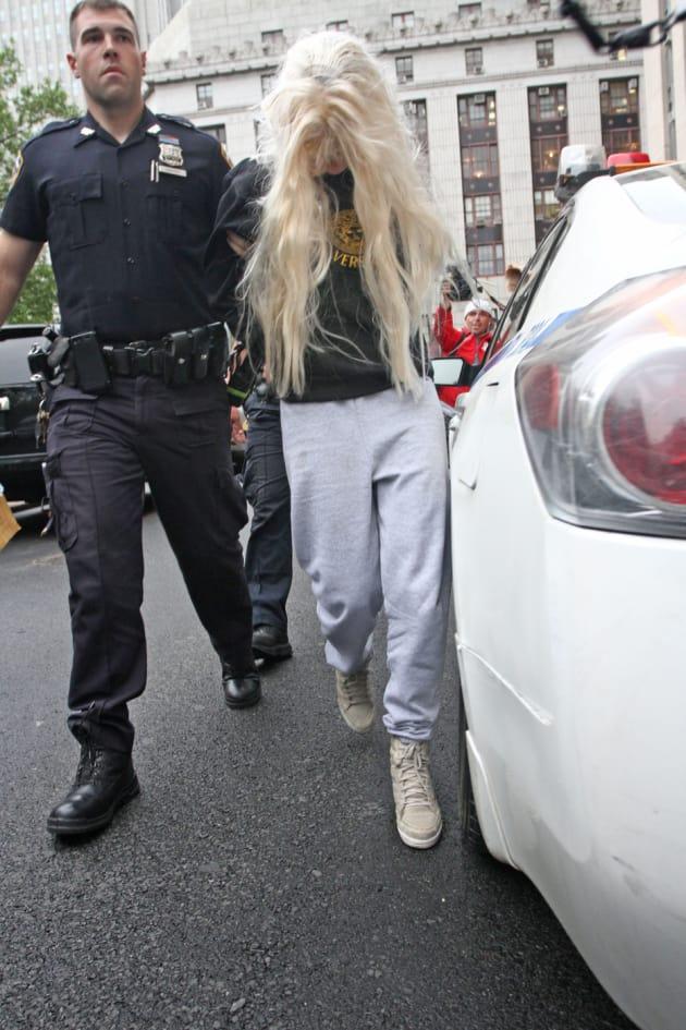 Amanda Bynes in Handcuffs
