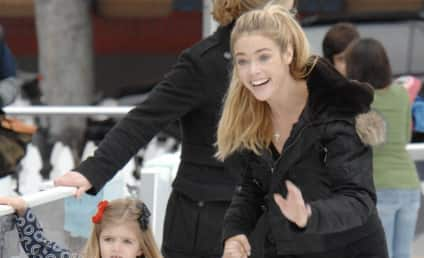 Denise Richards Teaches Children to Ice Skate, Pose for Photos