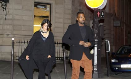 Kanye West and Kim Kardashian: Pictured in Paris!