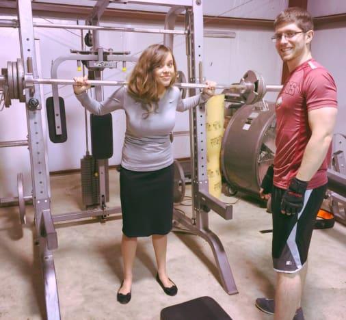 Jessa Duggar Pumps Iron