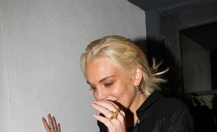 Lindsay Lohan Parties First Night of Freedom Away