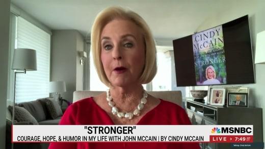 "Cindy McCain promotes ""Stronger"" book on Morning Joe"