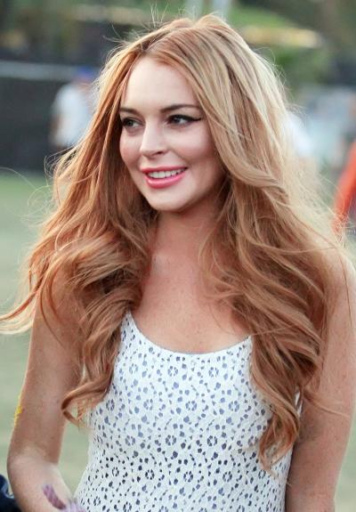 Lindsay Lohan, Red Hair