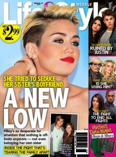 Miley Cyrus Tabloid Pic
