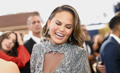 Chrissy Teigen Laughs at the 2018 Emmy Awards