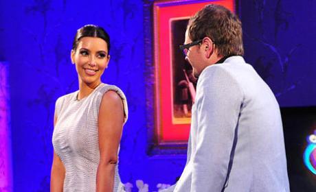 Kim Kardashian and Alan Carr