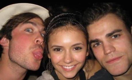 Nina Dobrev, Paul and Ian