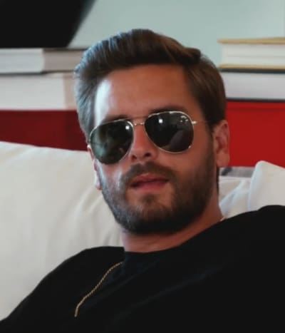 Scott Disick in Glasses on KUWTK