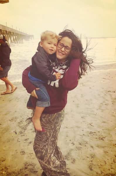 Jenelle Evans Kaiser beach pic