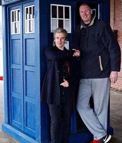 Neil Fingleton and Peter Capaldi