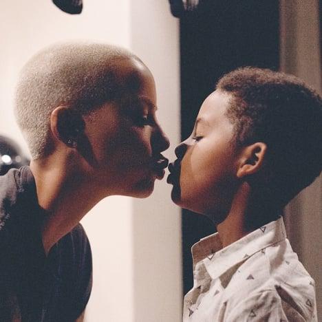 Amber Rose Kisses Son Sebastian Taylor Thomaz