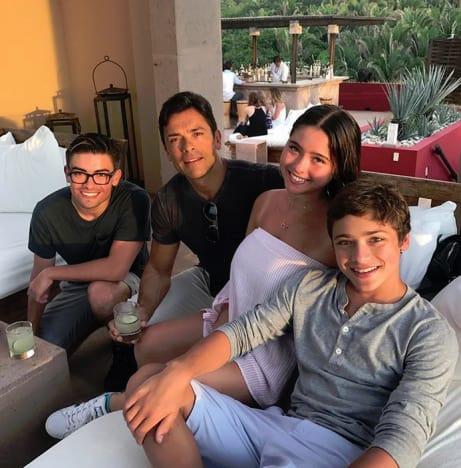Mark Consuelos Family Photo