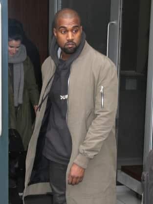 Kanye West at Rockefeller Center
