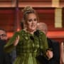 Adele Accepts a Grammy