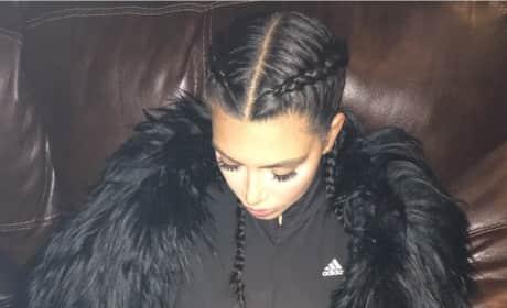 Kim Kardashian Asleep
