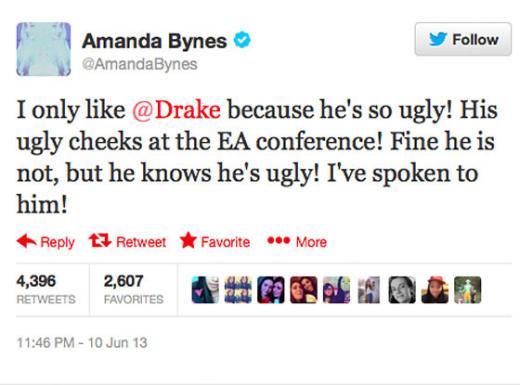 Amanda Drake Ugly Tweet
