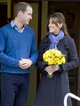 Kate Middleton and Prince William Leave Hospital