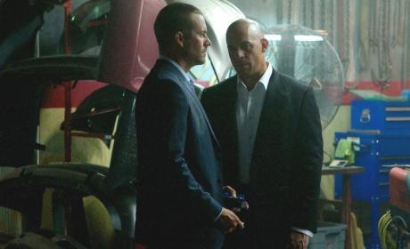 Paul Walker and Vin Diesel Fast 7 Photo