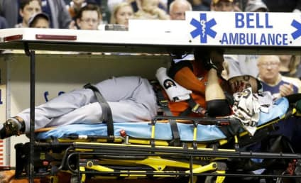 Giancarlo Stanton Hit by Pitch, Suffers Multiple Facial Fractures