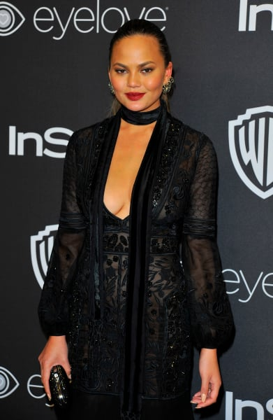 Chrissy Teigen After the Globes
