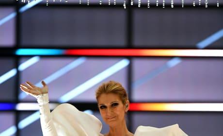 Celine Dion Soaks in Applause
