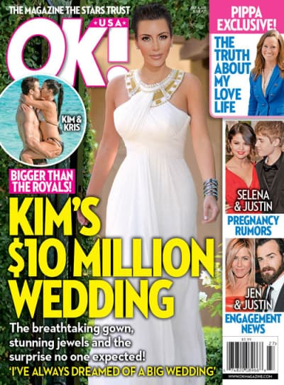 Kim Kardashian Wedding Cover