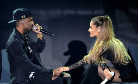 Big Sean and Ariana Grande on Stage