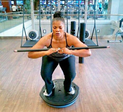 Mo'Nique Workout Pic