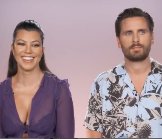 Scott Disick and Kourtney Kardashian on KUWTK