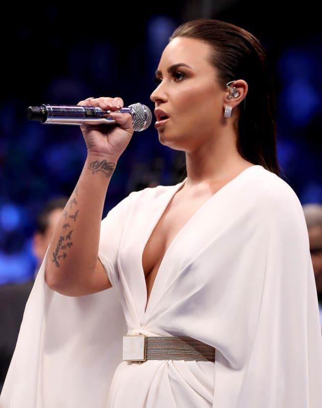 Demi Lovato Honors America