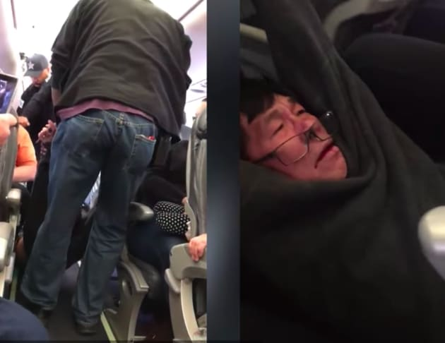 United Airlines Passenger Gets Bloodied Bruised Forcibly Removed From Seat